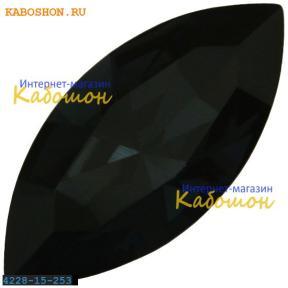 Swarovski Navette Fancy stone 15х7 мм Graphite