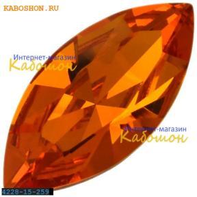 Swarovski Navette Fancy stone 15х7 мм Tangerine