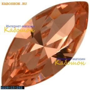 Swarovski Navette Fancy stone 15х7 мм Rose Peach