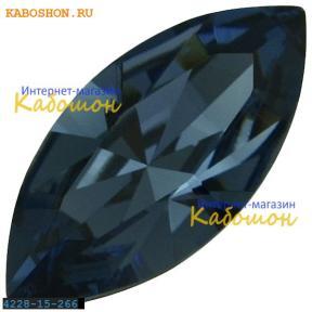 Swarovski Navette Fancy stone 15х7 мм Denim Blue