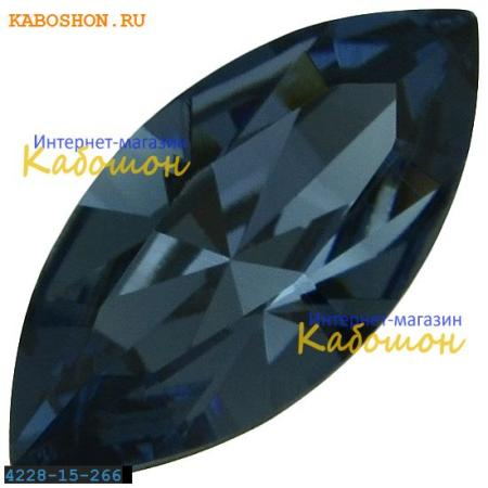 Кристалл Swarovski (Сваровски) Navette Fancy stone 15х7 мм Denim Blue