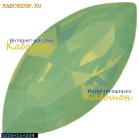 Swarovski Navette Fancy stone 15х7 мм Chrysolite Opal