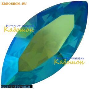 Swarovski Navette Fancy stone 15х7 мм Erinite Shimmer