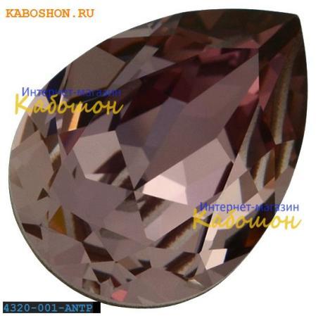 Swarovski Pear Fancy stone 14х10 мм Crystal Antique Pink