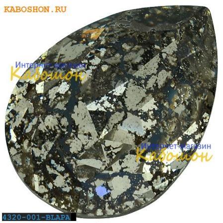 Swarovski Pear Fancy stone 14х10 мм Crystal Black Patina