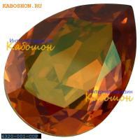 Swarovski Pear Fancy stone 18х13 мм Crystal Copper