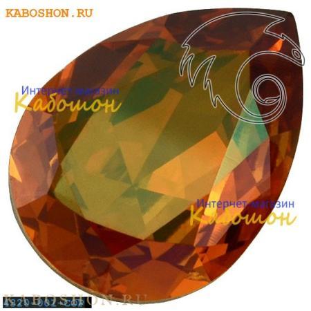 Кристалл Swarovski (Сваровски) Pear Fancy stone 14х10 мм Crystal Copper