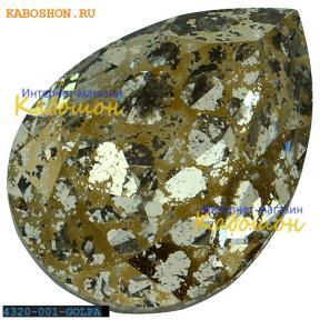 Swarovski Pear Fancy stone 18х13 мм Crystal Gold Patina