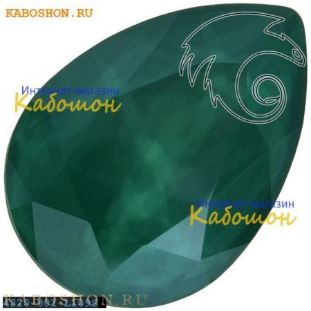 Кристалл Swarovski (Сваровски) Pear Fancy stone 14х10 мм Crystal Royal Green