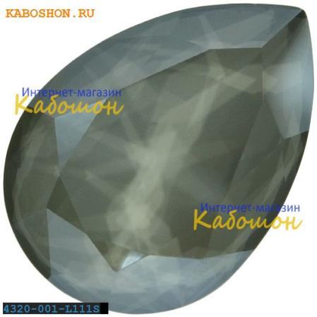 Swarovski Pear Fancy stone 14х10 мм Crystal Dark Grey