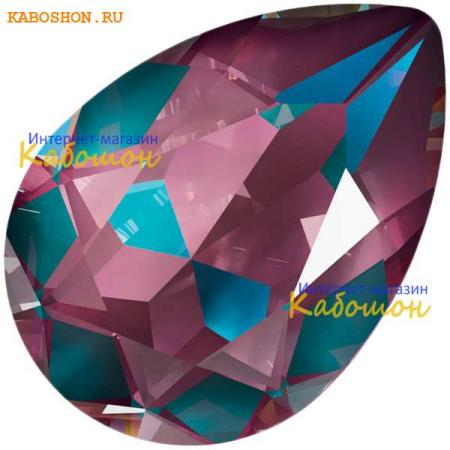 Кристалл Swarovski (Сваровски) Pear Fancy stone 14x10 мм Crystal Burgundy DeLite