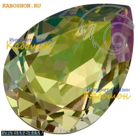 Кристалл Swarovski (Сваровски) Pear Fancy stone 14х10 мм Crystal Luminous Green