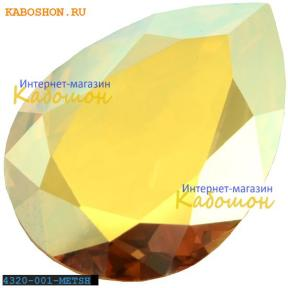 Swarovski Pear Fancy stone 18х13 мм Crystal Metallic Sunshine