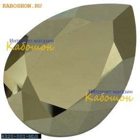 Swarovski Pear Fancy stone 18х13 мм Crystal Metallic Light Gold
