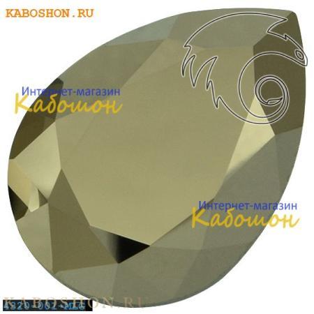 Кристалл Swarovski (Сваровски) Pear Fancy stone 14х10 мм Crystal Metallic Light Gold