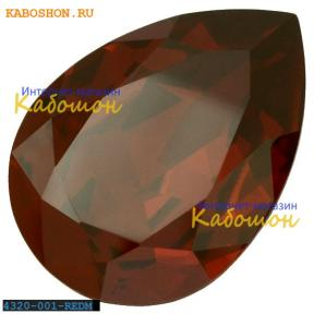 Swarovski Pear Fancy stone 18х13 мм Crystal Red Magma