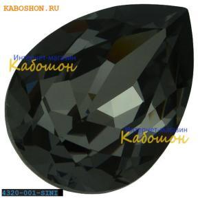 Swarovski Pear Fancy stone 14х10 мм Crystal Silver Night