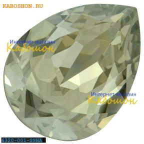 Swarovski Pear Fancy stone 14х10 мм Crystal Silver Shade