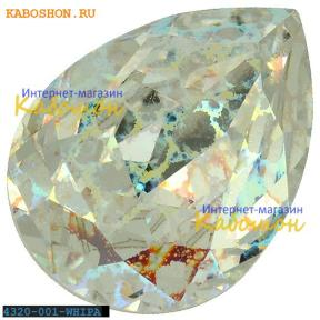 Swarovski Pear Fancy stone 18х13 мм Crystal White Patina