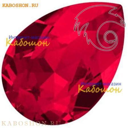 Кристалл Swarovski (Сваровски) Pear Fancy stone 18х13 мм Scarlet