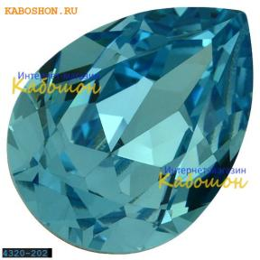 Swarovski Pear Fancy stone 14х10 мм Aquamarine