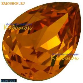 Swarovski Pear Fancy stone 14х10 мм Topaz
