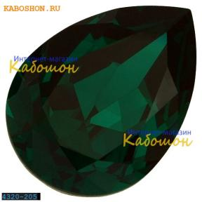 Swarovski Pear Fancy stone 18х13 мм Emerald