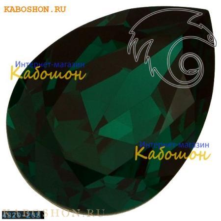 Кристалл Swarovski (Сваровски) Pear Fancy stone 18х13 мм Emerald