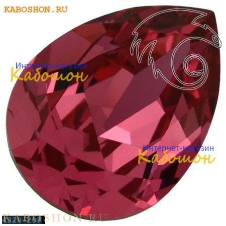 Кристалл Swarovski (Сваровски) Pear Fancy stone 14х10 мм Rose