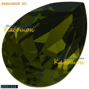 Swarovski Pear Fancy stone 18х13 мм Olivine