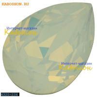Swarovski Pear Fancy stone 14х10 мм White Opal
