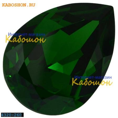 Кристалл Swarovski (Сваровски) Pear Fancy stone 14х10 мм Dark Moss Green