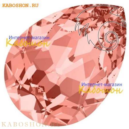 Кристалл Swarovski (Сваровски) Pear Fancy stone 18х13 мм Rose Peach