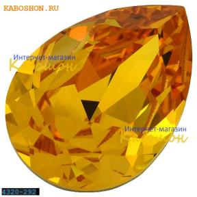 Swarovski Pear Fancy stone 18х13 мм Sunflower
