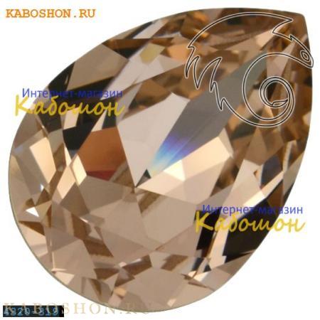 Кристалл Swarovski (Сваровски) Pear Fancy stone 14х10 мм Vintage Rose