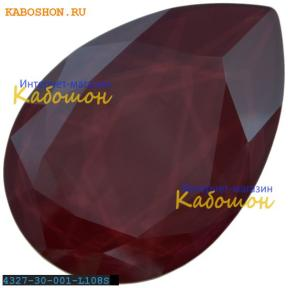 Swarovski Pear Fancy stone 30х20 мм Crystal Dark Red