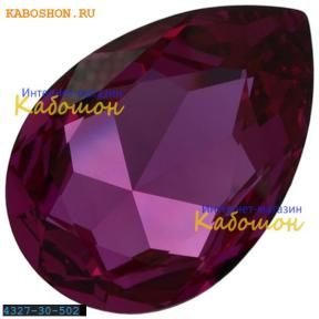 Swarovski Pear Fancy stone 30х20 мм Fuchsia