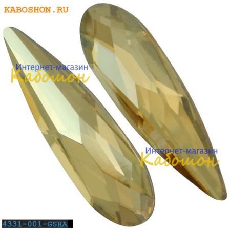 Swarovski Raindrop Fancy stone 11 мм Crystal Golden Shadow