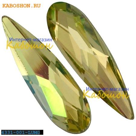 Кристалл Swarovski (Сваровски) Raindrop Fancy stone 11 мм Crystal Luminous Green