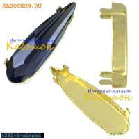 Оправа для Swarovski 4331 Raindrop Fancy stone 11 мм латунь