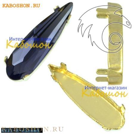 Оправа для Swarovski 4331 Raindrop Fancy stone 11 мм латунь 4331-11-S-closed