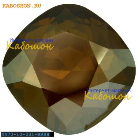 Кристалл Swarovski (Сваровски) Cushion Cut Fancy stone 10 мм Crystal Bronze Shade