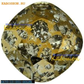 Swarovski Cushion Cut Fancy stone 10 мм Crystal Gold Patina