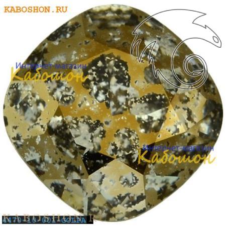Кристалл Swarovski (Сваровски) Cushion Cut Fancy stone 10 мм Crystal Gold Patina