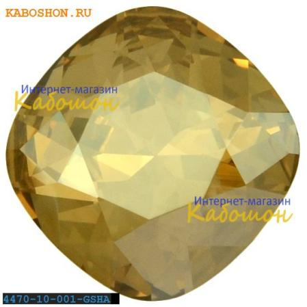 Swarovski Cushion Cut Fancy stone 10 мм Crystal Golden Shadow