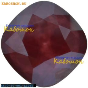 Swarovski Cushion Cut Fancy stone 10 мм Crystal Dark Red