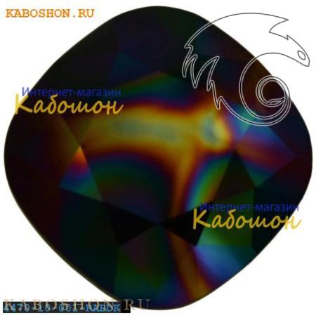 Кристалл Swarovski (Сваровски) Cushion Cut Fancy stone 10 мм Crystal Rainbow Dark