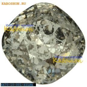 Swarovski Cushion Cut Fancy stone 10 мм Crystal Silver Patina