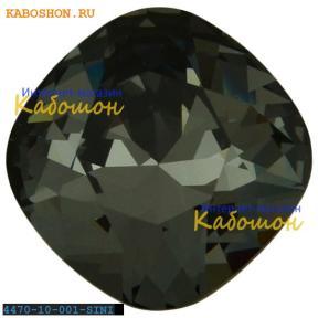 Swarovski Cushion Cut Fancy stone 10 мм Crystal Silver Night