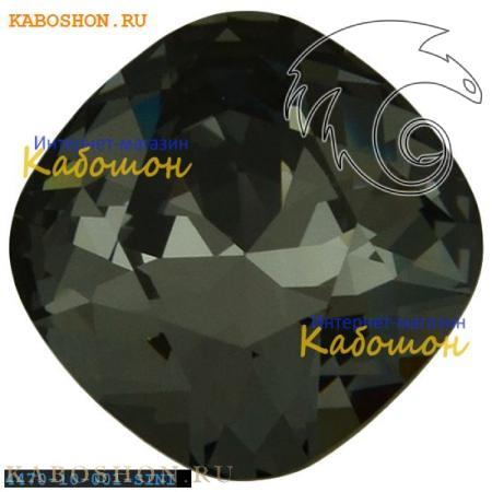 Swarovski Cushion Cut Fancy stone 10 мм Crystal Silver Night 4470-10-001-SINI